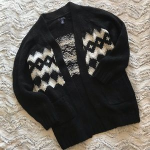 Oversized black cardigan